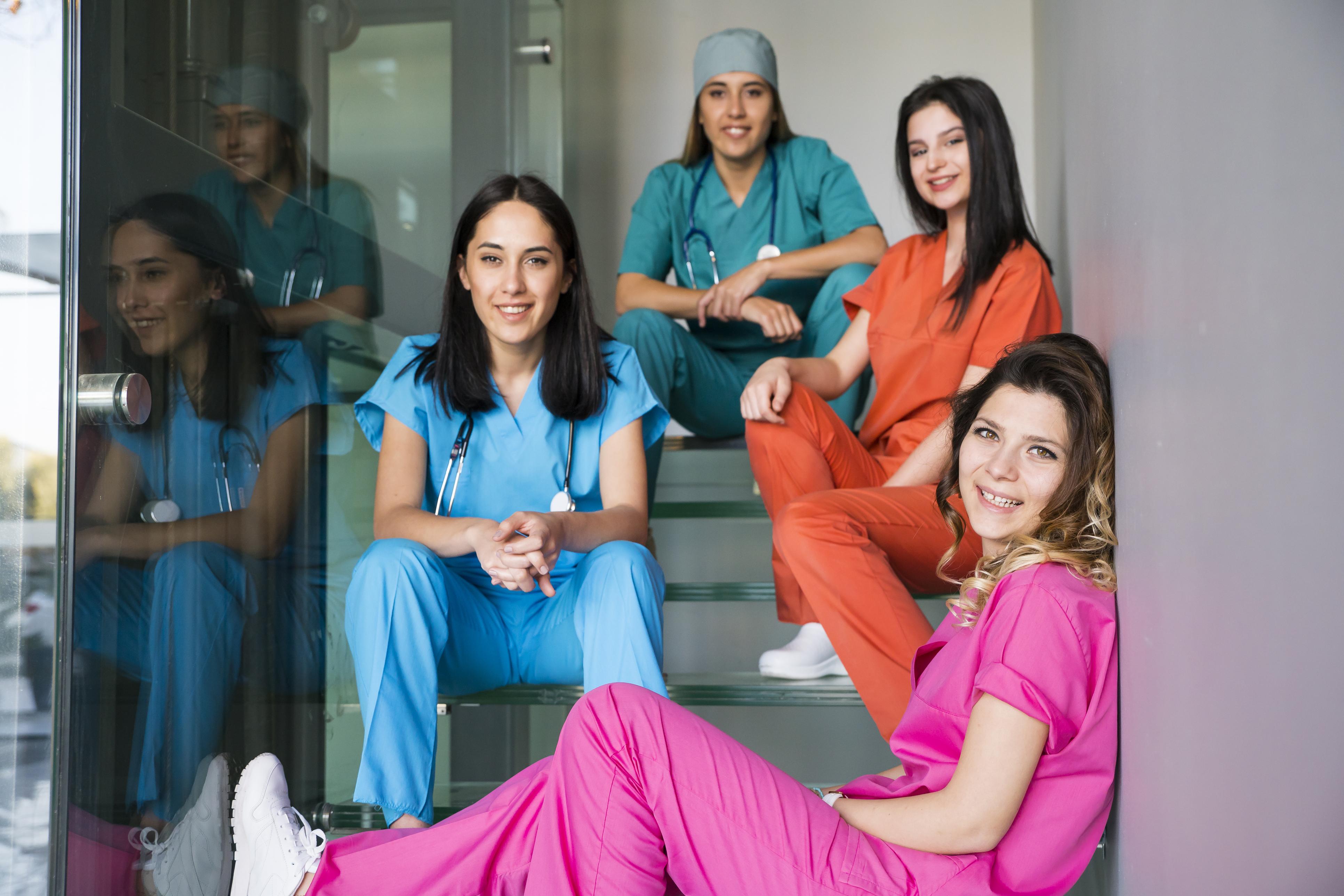 Une infirmière sur Marseille en action