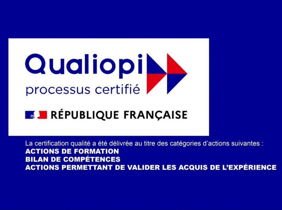 logo qualiopi orientaction bilan de compétences, accompagnement création d'entreprise, formation et vae